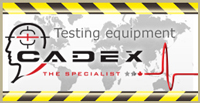 cadex testing button