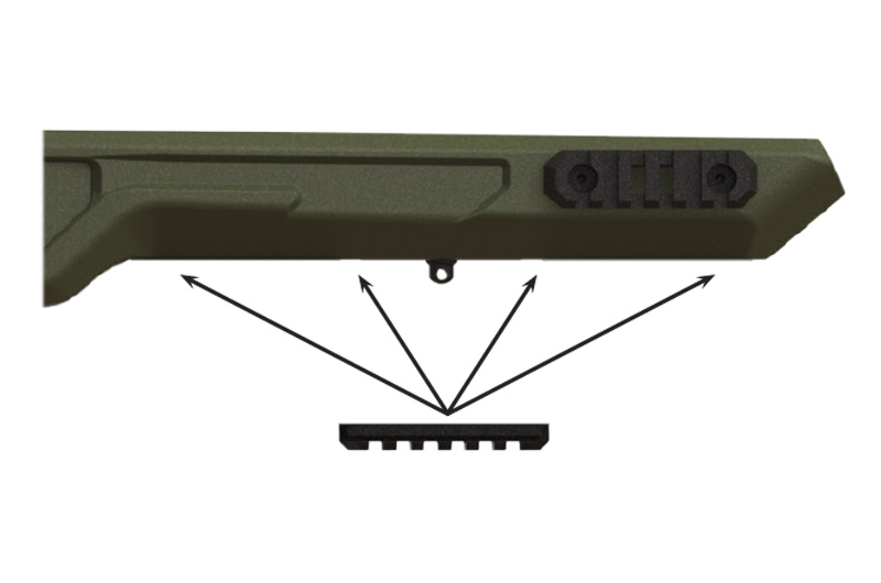 Optional bipod rail