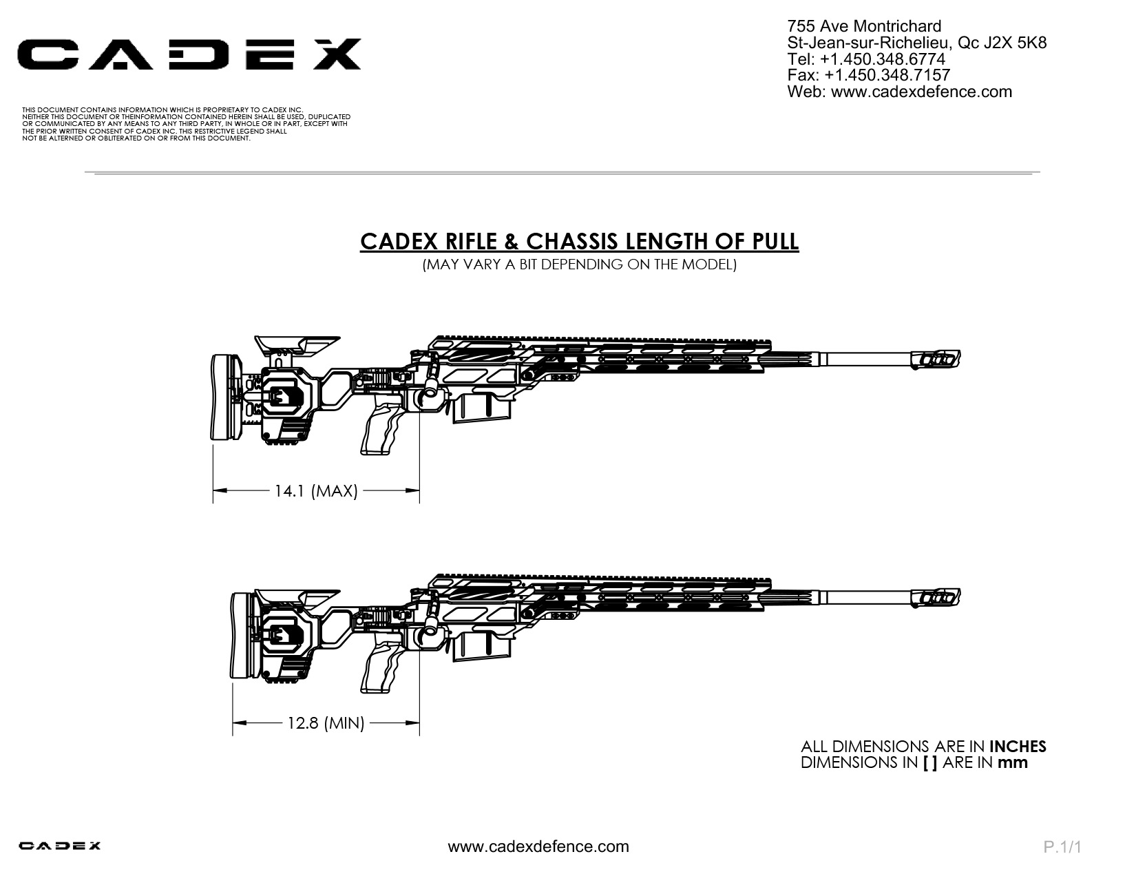 Cdx 50 Tremor Precision Rifles 50 Bmg Cadex Defence