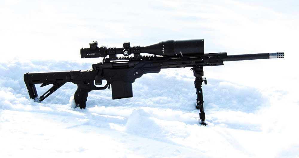 Urban Strike chassis fitted with a Remington 700 short action
