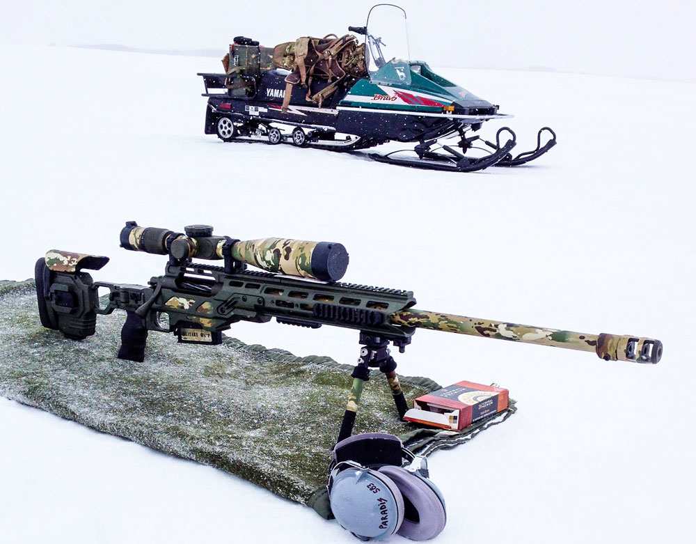 Cadex Dual Strike for Stiller Tac 338 in the Canadian snow