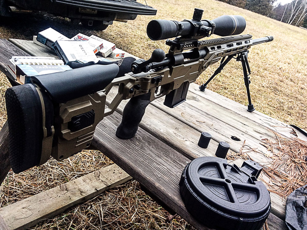 Savage 10 FCP-K 308 Win housed in a Lite Strike chassis