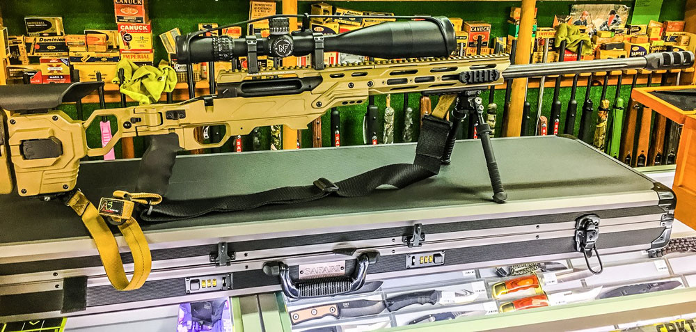Savage 110 BA 338 Lapua installed in a Lite Strike chassis