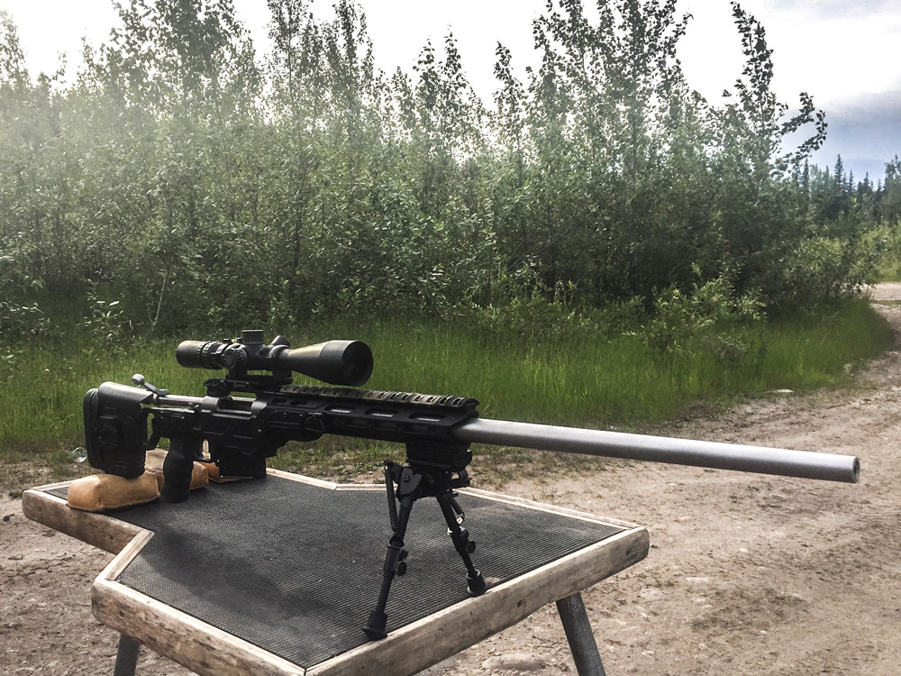 Remington 700 in a black Lite Strike chassis