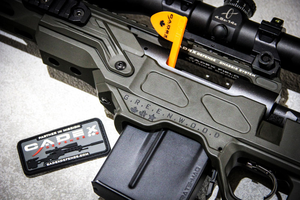 Left handed Rem 700 sitting in a Cadex Field Competition chassis