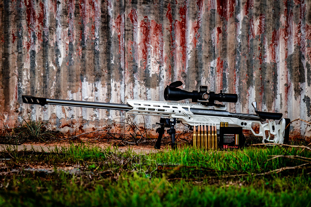 McMillan Tac-50 in a Dual Strike chassis with a Cadex MX1 muzzle brake