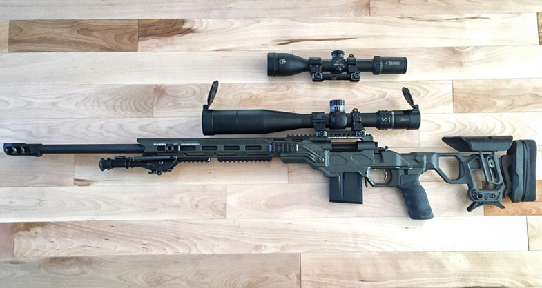 Cadex REM700 Field Competition with optional skeleton stock and MX1 muzzle brake