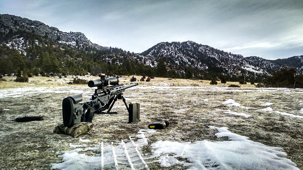Nice picture of a Dual Strike from Applied Ballistics LLC in the mountains of Montana