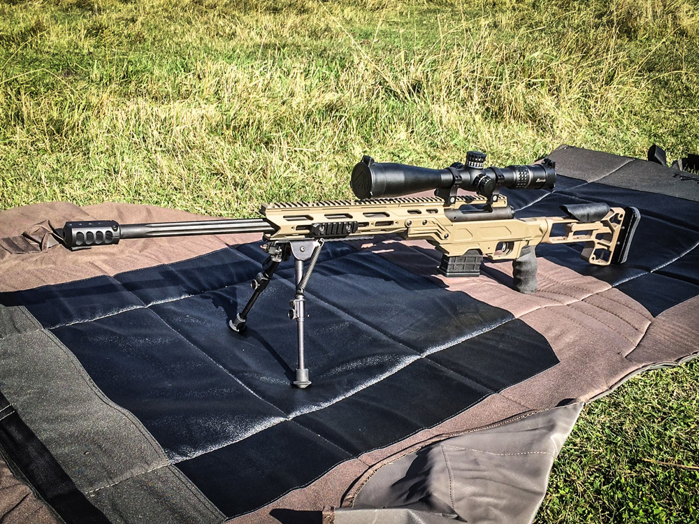 Savage 10 FCP 308 with Cadex Tactical Core, MDT butt stock, Cor Tac brake and Burris 5-25 scope