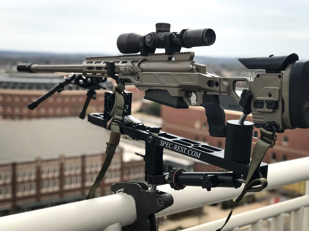 McMillan Tac50 sitting in a Cadex Dual Strike 50 chassis