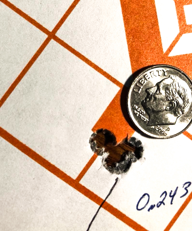 CDX-30 Guardian Lite in 6.5 Creedmoor. Five shots at 100 yards. Two inside prior shots.