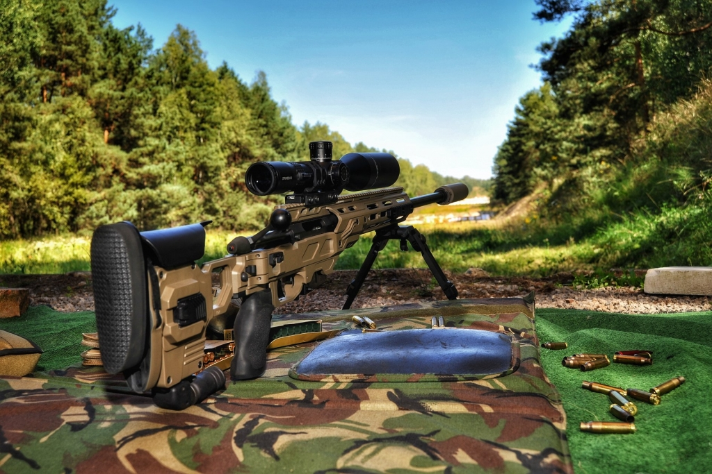 Sako TRG/22 sitting in a Dual Strike chassis