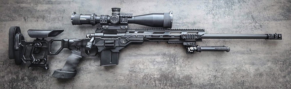 Remington 700 Police in .308 furnished with the Cadex Field Tactical chassis
