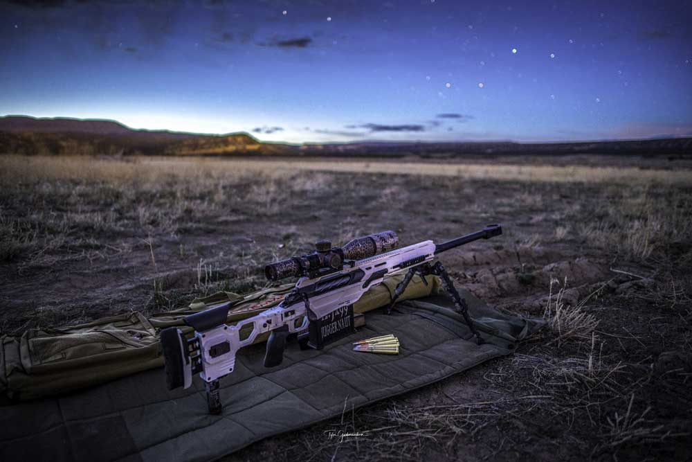 CDX-50 Tremor shines perfectly under this evening sky. Courtesy GudmundsenPhotography.