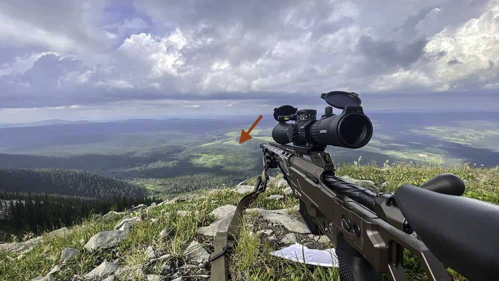 CDX-33 Lite in 300 Norma at the RFMA high angle course with a second round impact at 2600 meters