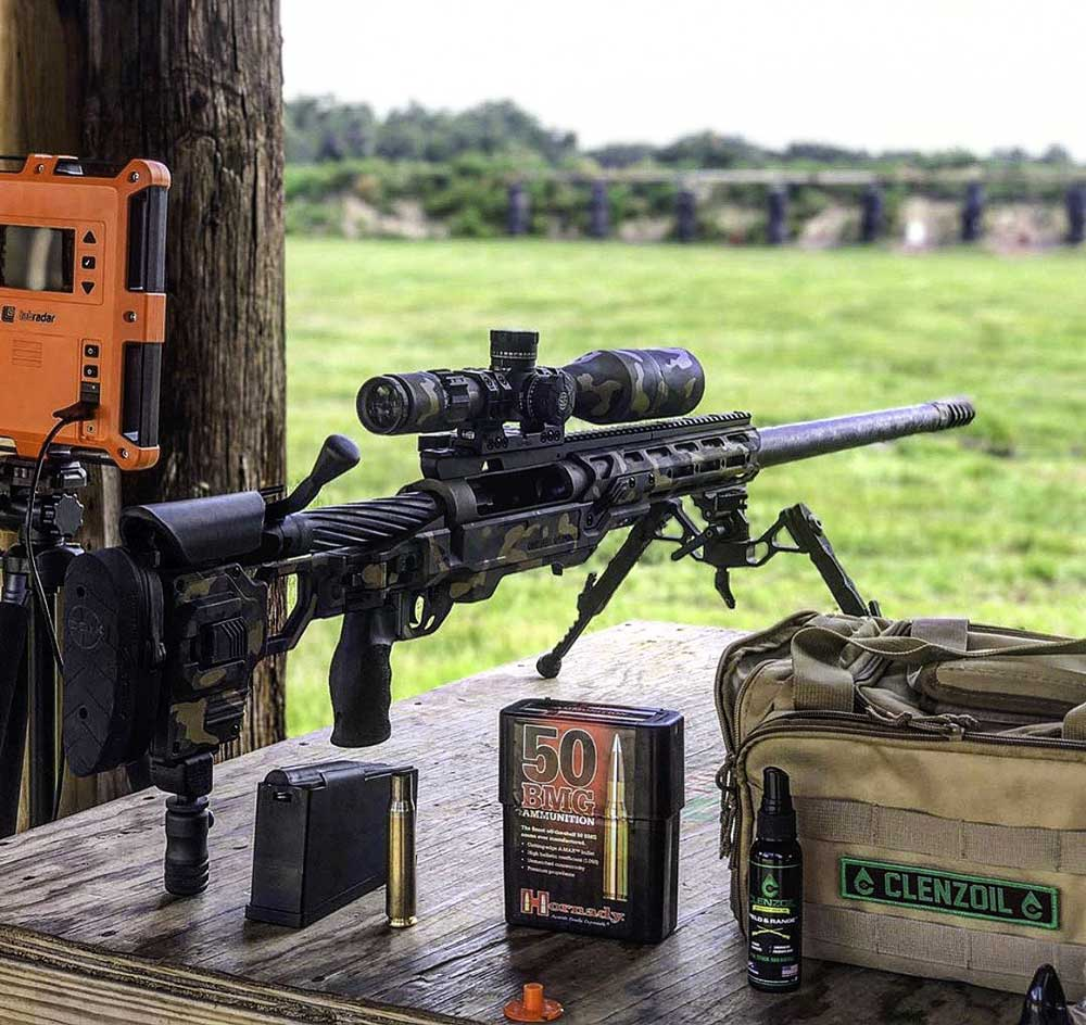 50 BMG with a custom Cerakote job and PROOF Research barrel - Core Elite Operations
