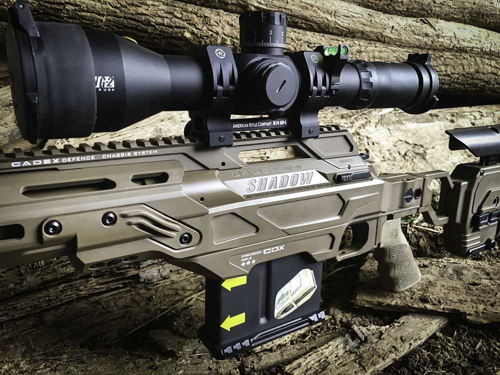 CDX-40 action in .408CT installed in our Dual Strike chassis - Vestals Custom Rifles