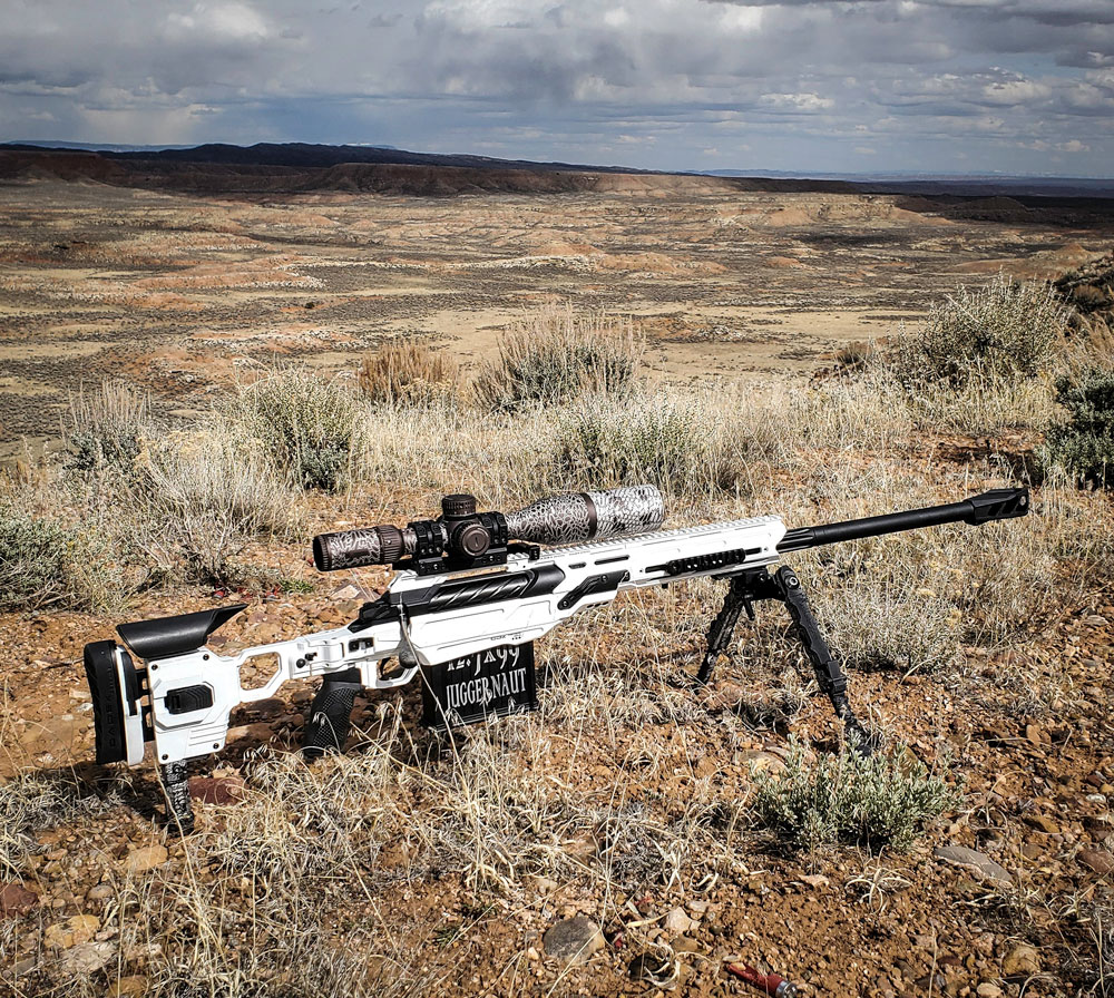 Who says that a Cerakoted CDX-50 Tremor in Stormtrooper White will not fit in a desert landscape?