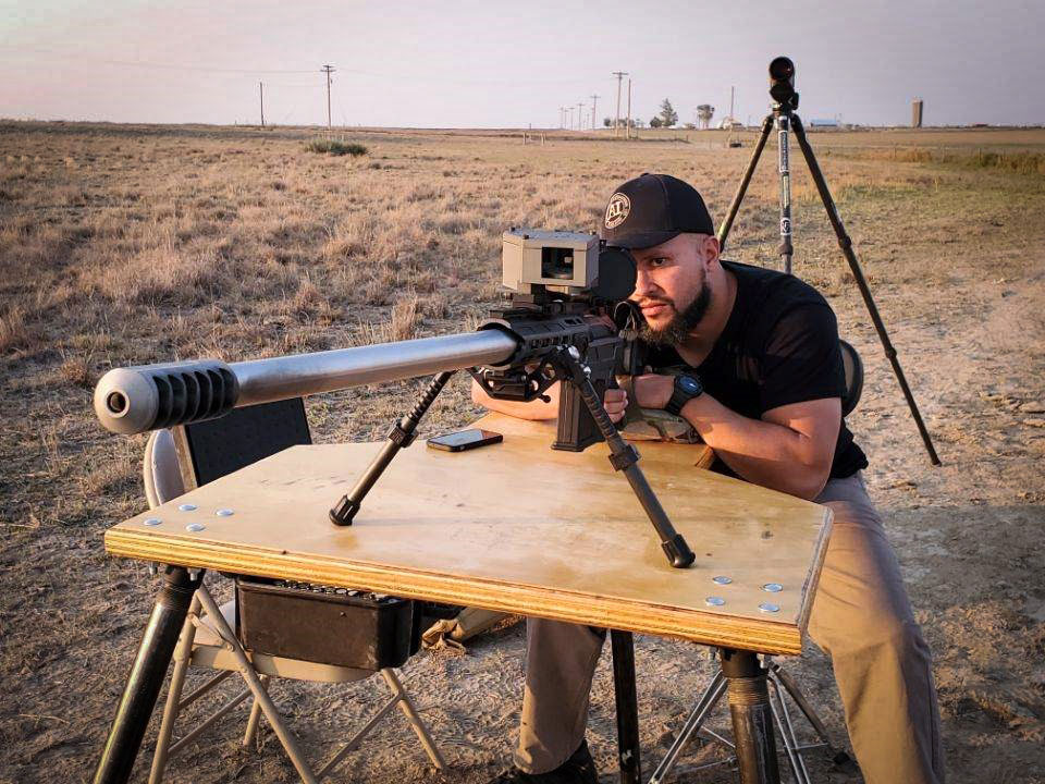 Dual Strike chassis chambered in 416 Barrett and impact at 3 miles!