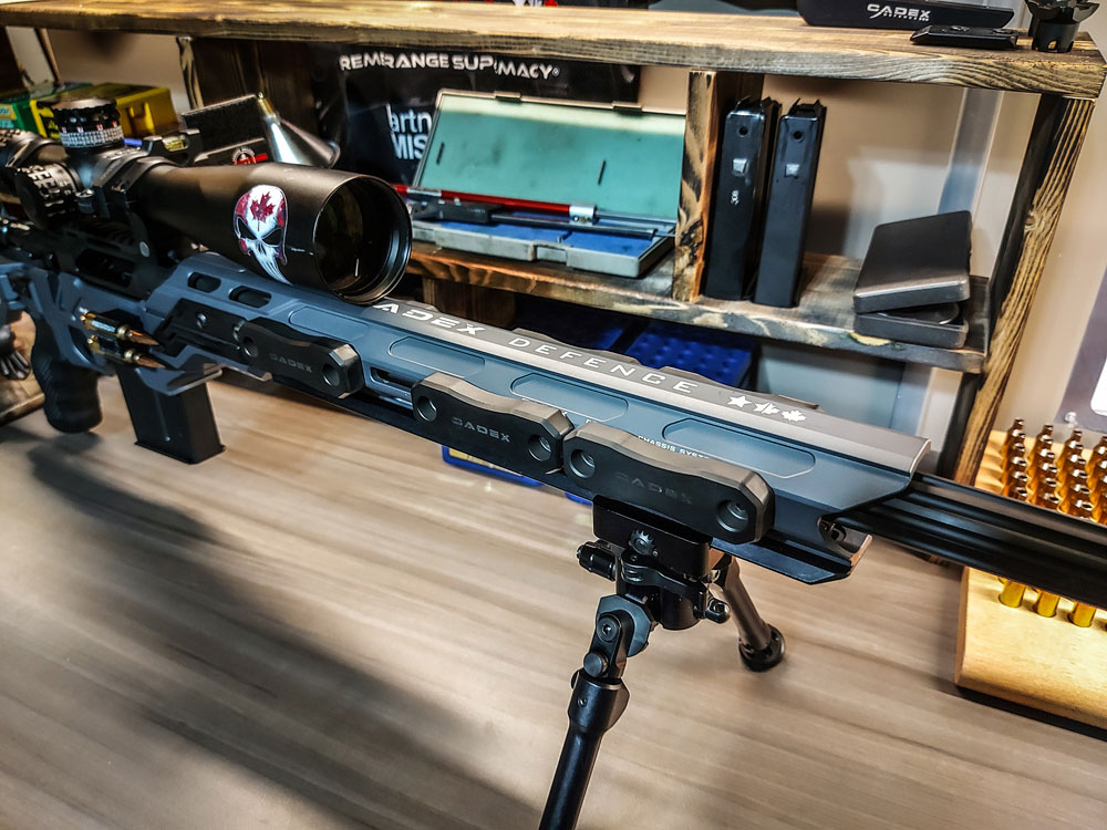 CDX-R7 LCP 6 Creedmoor featuring our Falcon Bipod Lite, MX1 Muzzle Brake and M-LOK Chassis Weights
