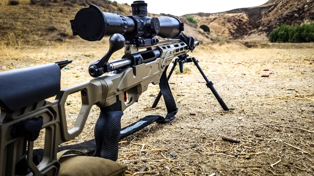 Savage Short Action 6.5 Creedmoor sitting in our Field Tactical chassis