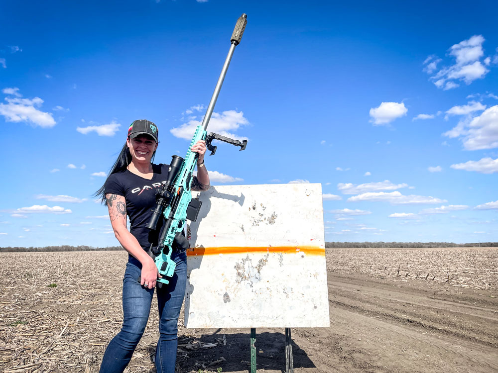 Pro-Staff Lauren Davis enjoying some practice with her Dual Strike chassis for CDX-40 SHADOW action